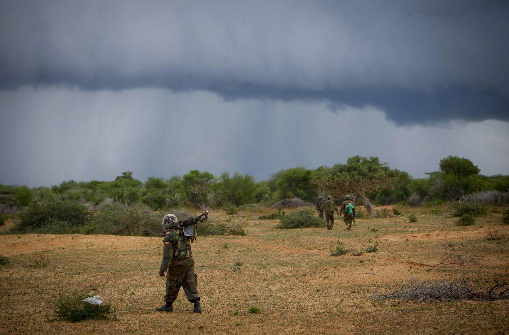 AMISOM troops in Somalia.