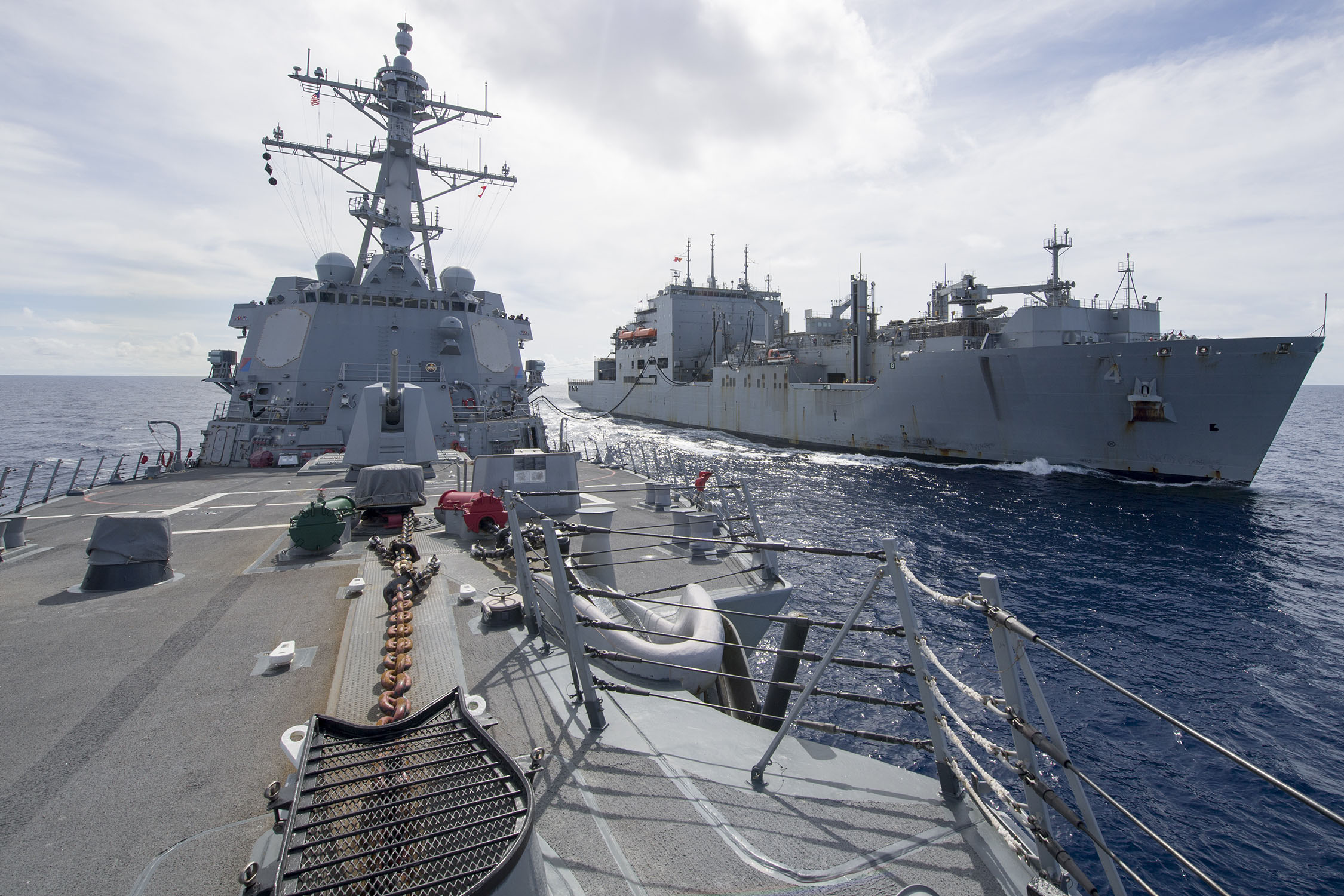 US Navy Ship in the South China Sea