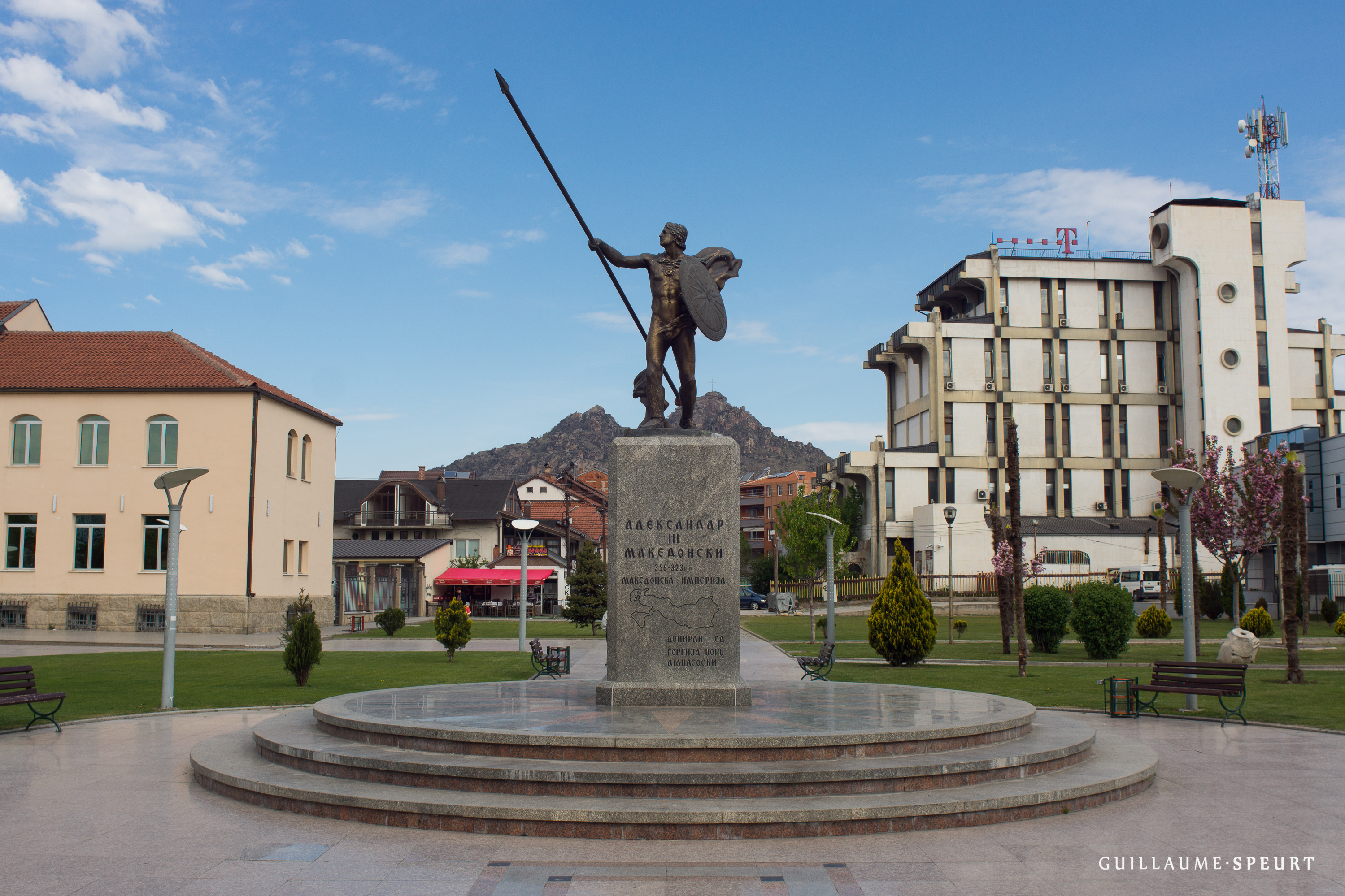 Alexander the Great statue in Macedonia